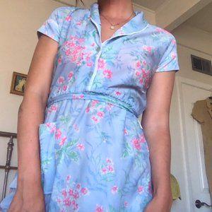 Vintage Pastel House Dress